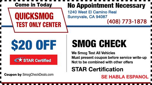 Dmv Smog Check >> 20 Smog Check Coupons Sunnyvale Dmv Smog